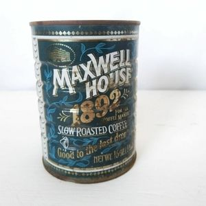 Vintage Coffee can storage Maxwell House